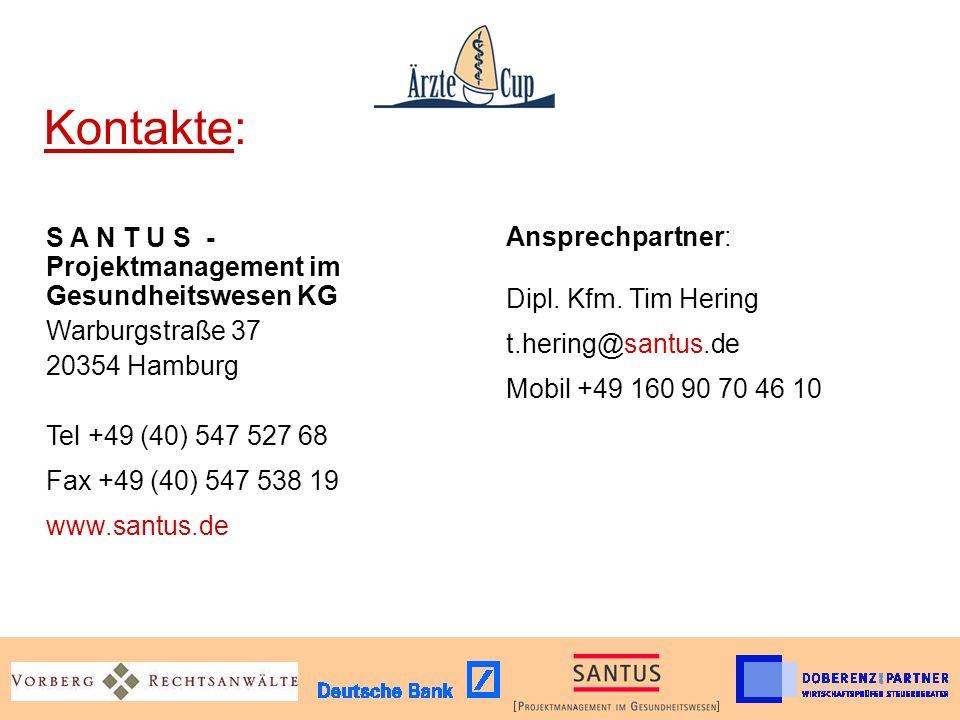 Kontakte: S A N T U S - Projektmanagement im Gesundheitswesen KG