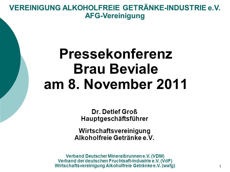 Pressekonferenz Brau Beviale am 8. November 2011