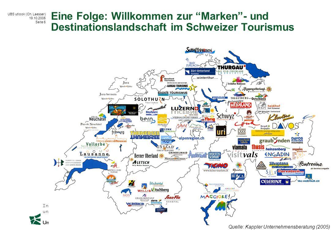 Eine Folge: Willkommen zur Marken - und Destinationslandschaft im Schweizer Tourismus