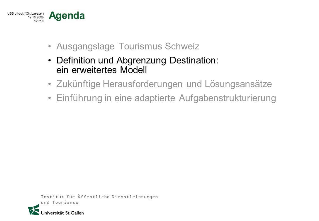 Agenda Ausgangslage Tourismus Schweiz