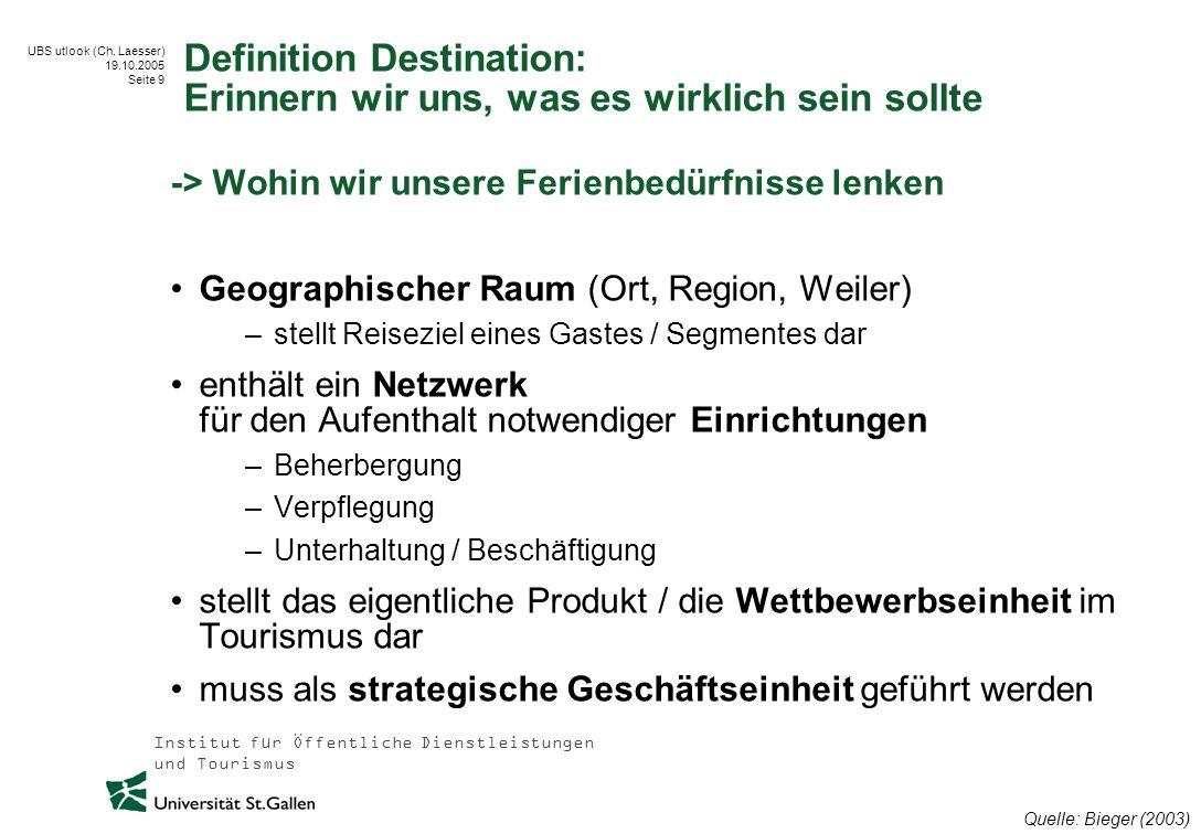 Definition Destination: Erinnern wir uns, was es wirklich sein sollte
