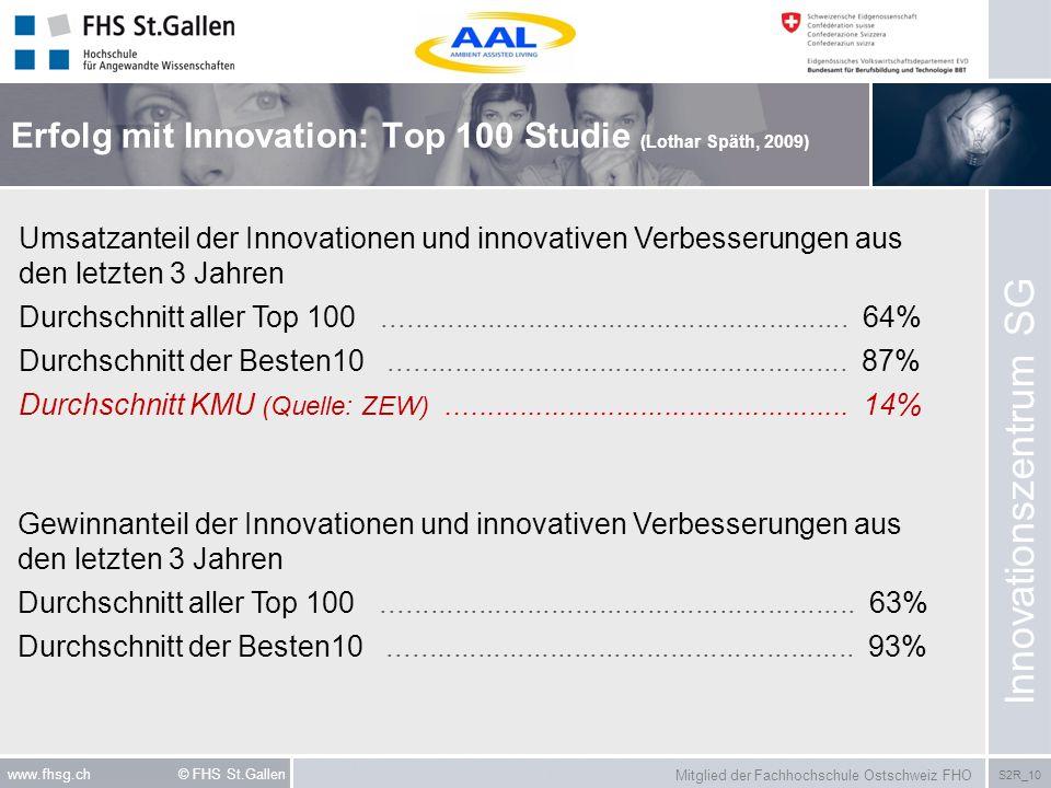 Erfolg mit Innovation: Top 100 Studie (Lothar Späth, 2009)
