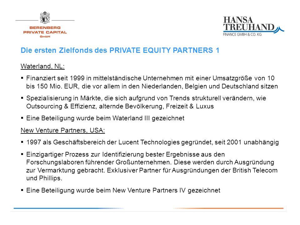 Die ersten Zielfonds des PRIVATE EQUITY PARTNERS 1