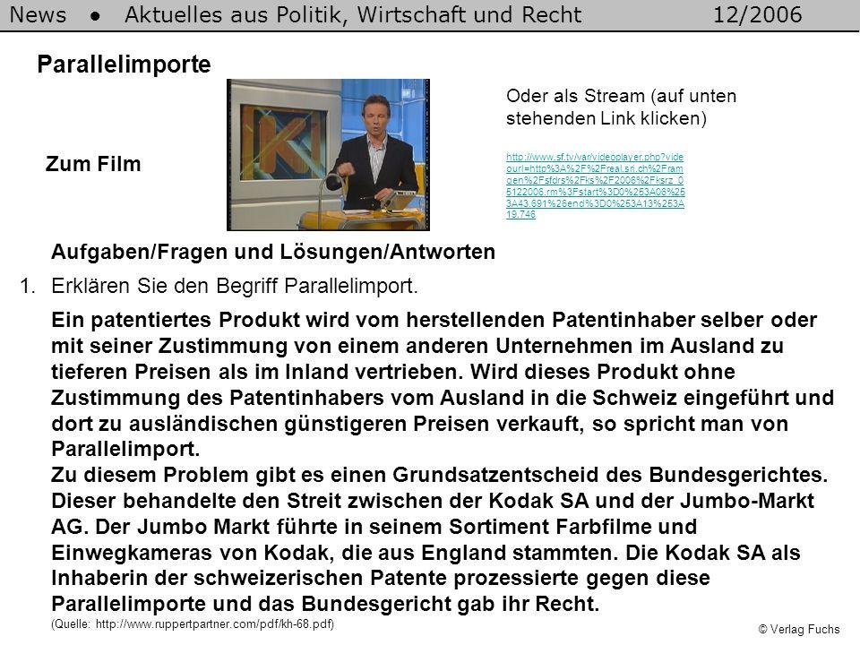 News ● Aktuelles aus Politik, Wirtschaft und Recht 12/2006