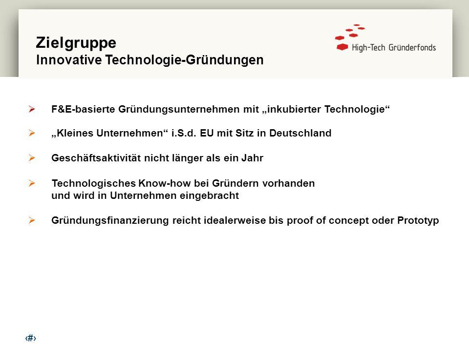 Zielgruppe Innovative Technologie-Gründungen