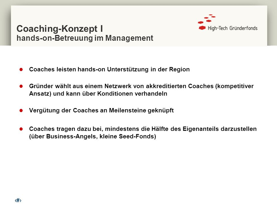 Coaching-Konzept I hands-on-Betreuung im Management