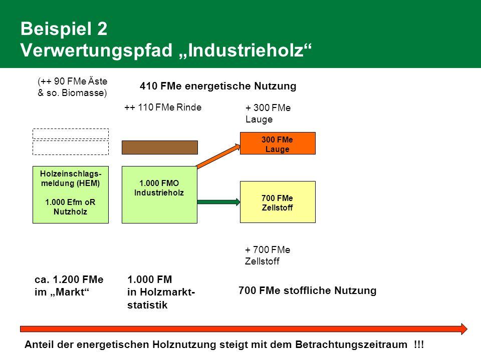 """Beispiel 2 Verwertungspfad """"Industrieholz"""