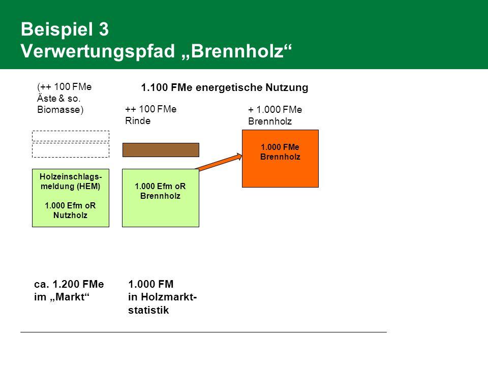 """Beispiel 3 Verwertungspfad """"Brennholz"""