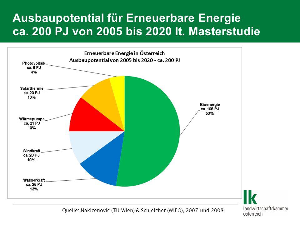 Quelle: Nakicenovic (TU Wien) & Schleicher (WIFO), 2007 und 2008