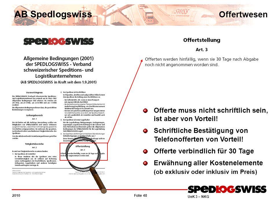 AB Spedlogswiss Offertwesen