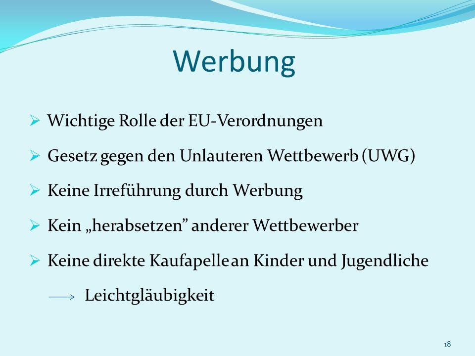 Werbung Wichtige Rolle der EU-Verordnungen