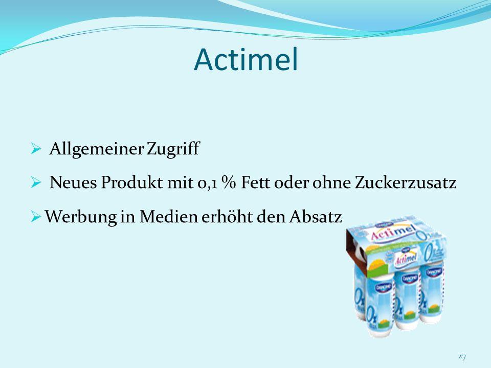 Actimel Allgemeiner Zugriff
