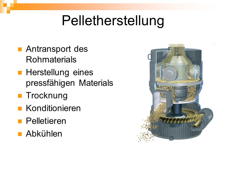 Pelletherstellung Antransport des Rohmaterials