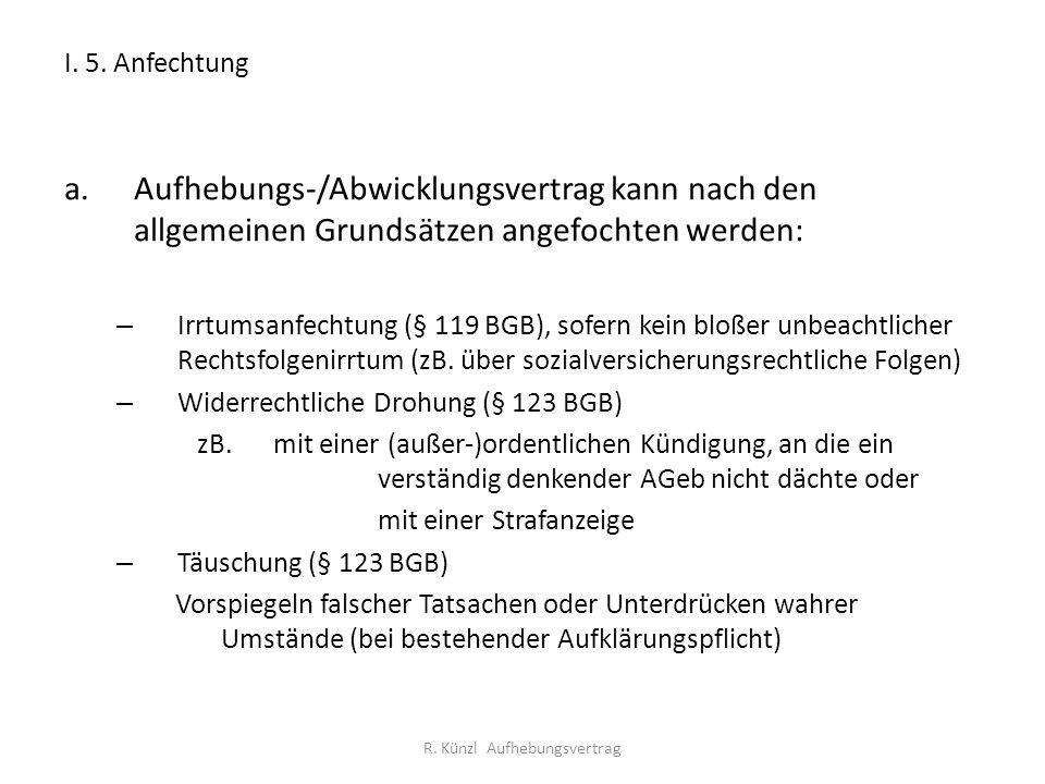 R. Künzl Aufhebungsvertrag