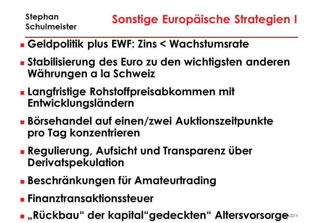 Sonstige Europäische Strategien II
