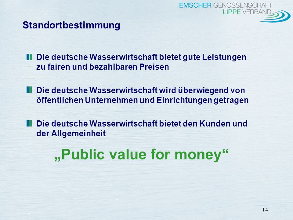 """Public value for money"