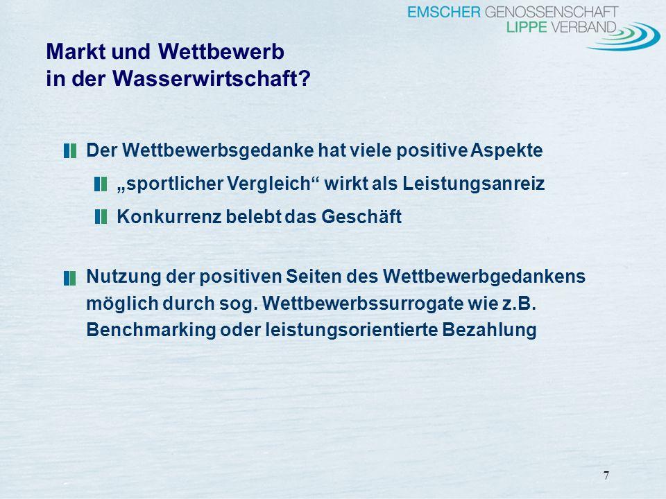 Markt und Wettbewerb in der Wasserwirtschaft