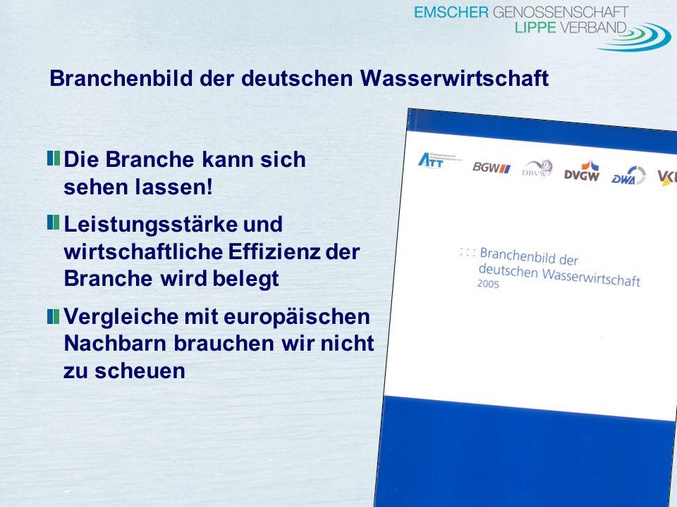 Branchenbild der deutschen Wasserwirtschaft