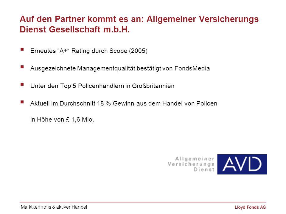 Auf den Partner kommt es an: Allgemeiner Versicherungs Dienst Gesellschaft m.b.H.