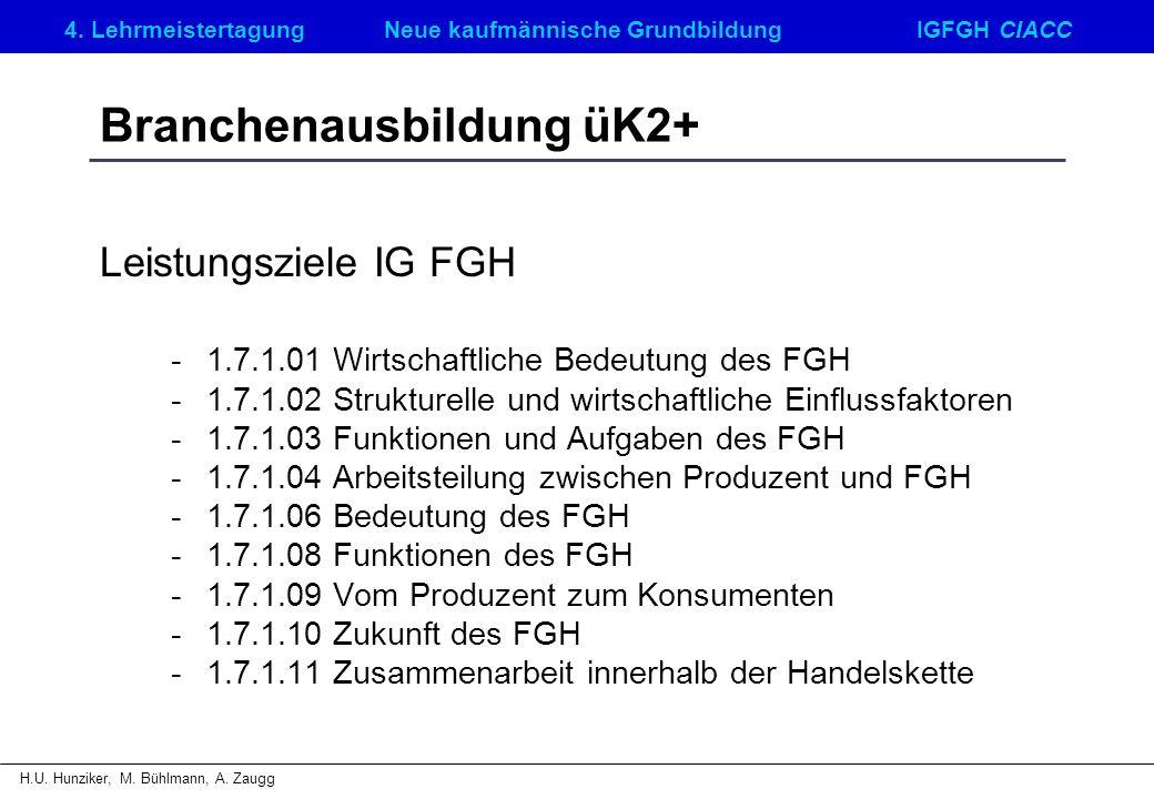 Branchenausbildung üK2+