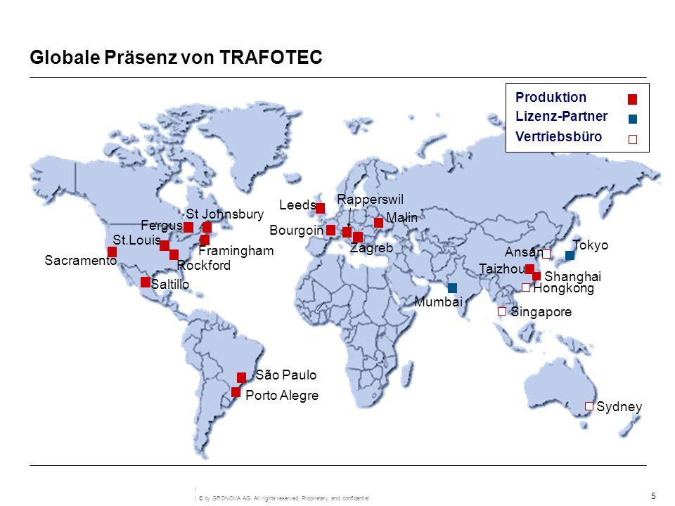 Globale Präsenz von TRAFOTEC