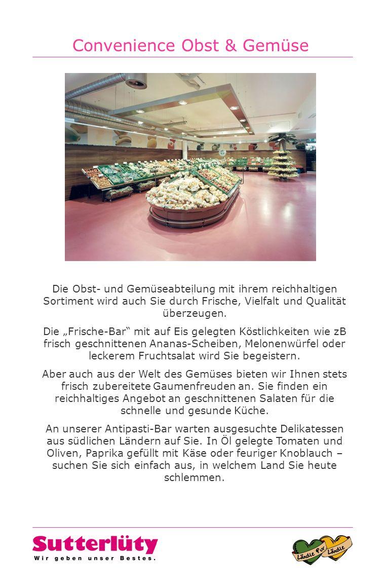 Convenience Obst & Gemüse