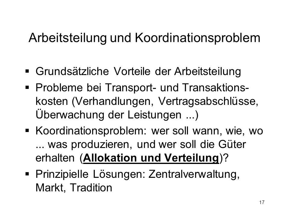Arbeitsteilung und Koordinationsproblem