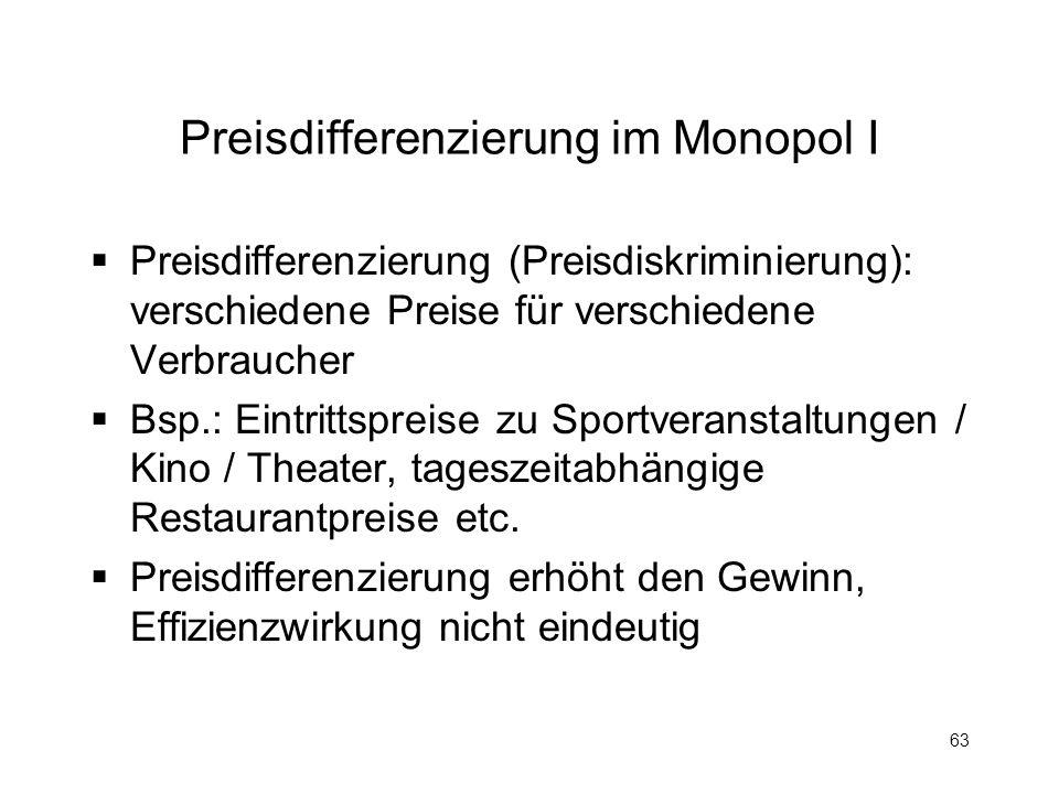 Preisdifferenzierung im Monopol I