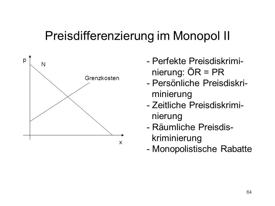 Preisdifferenzierung im Monopol II