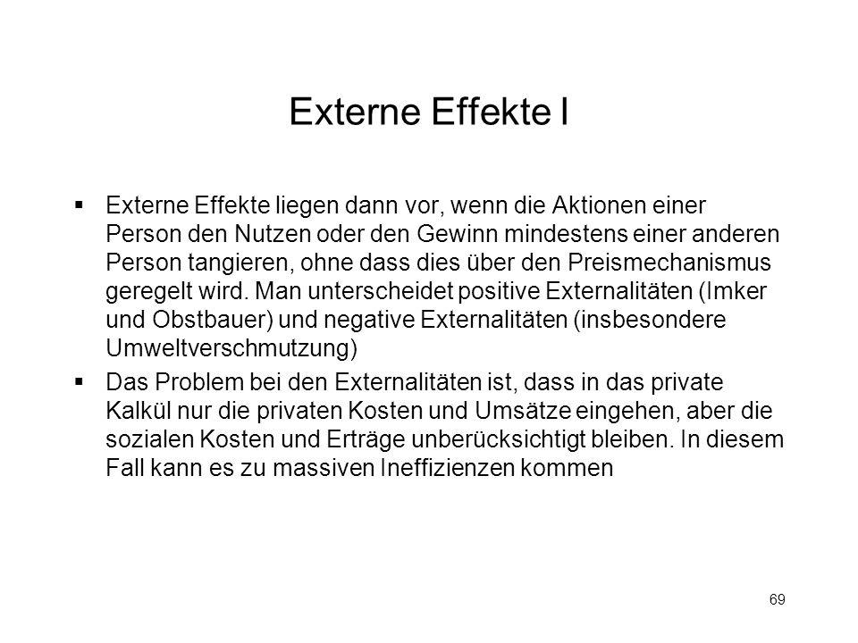 Externe Effekte I