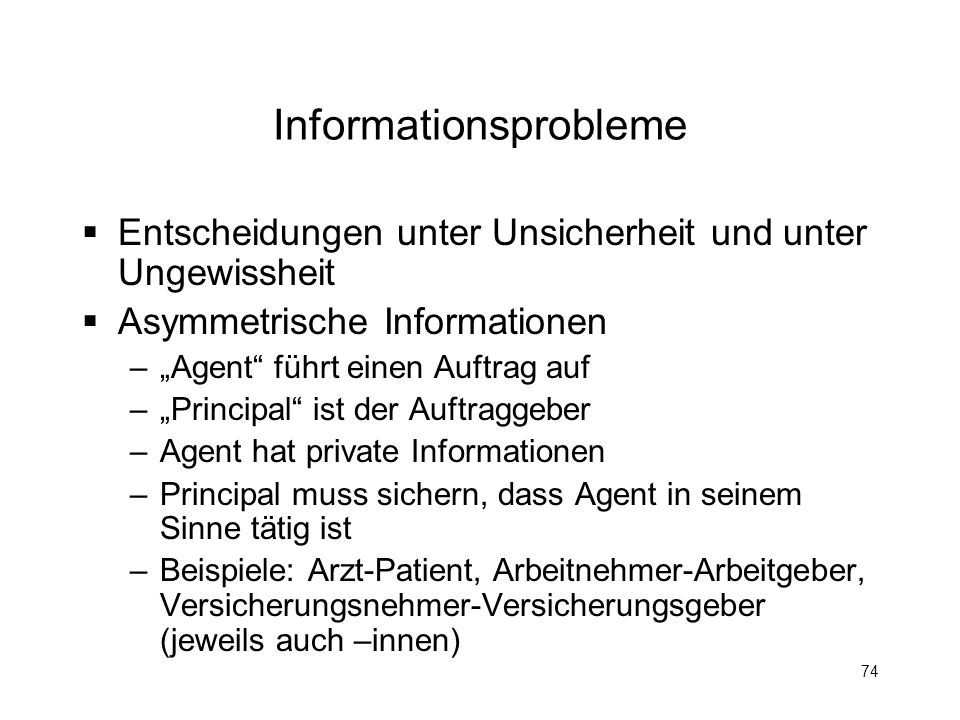 Informationsprobleme