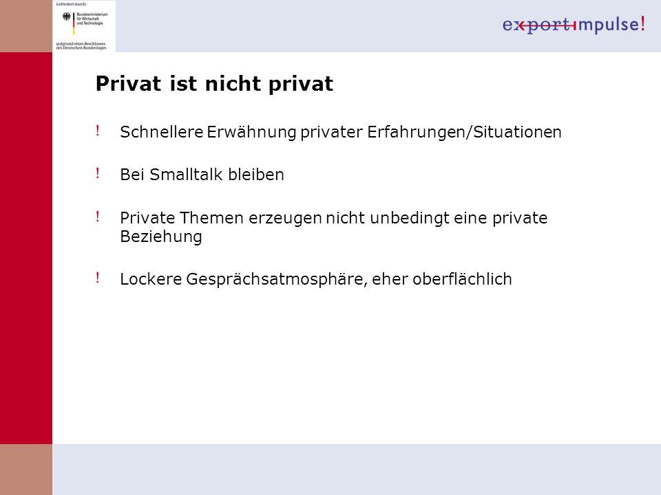 Privat ist nicht privat