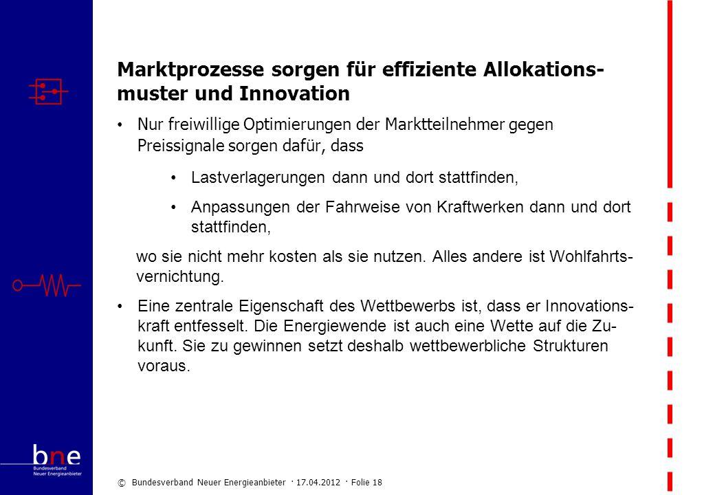 Marktprozesse sorgen für effiziente Allokations-muster und Innovation