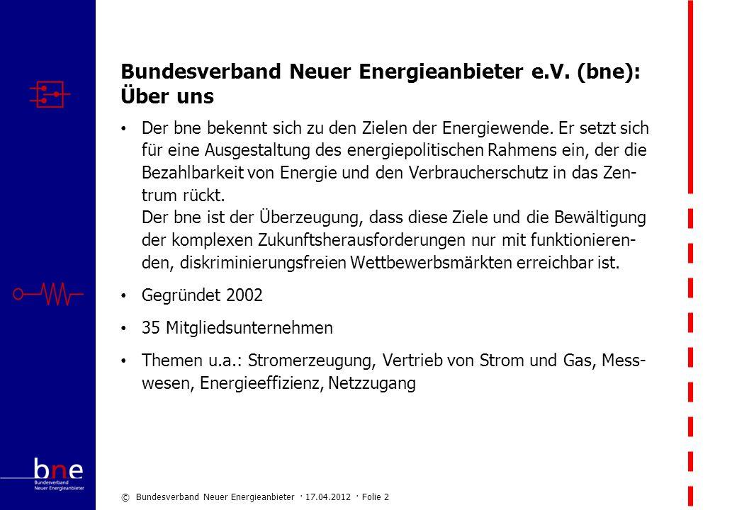Bundesverband Neuer Energieanbieter e.V. (bne): Über uns