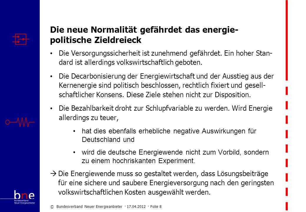 Die neue Normalität gefährdet das energie-politische Zieldreieck