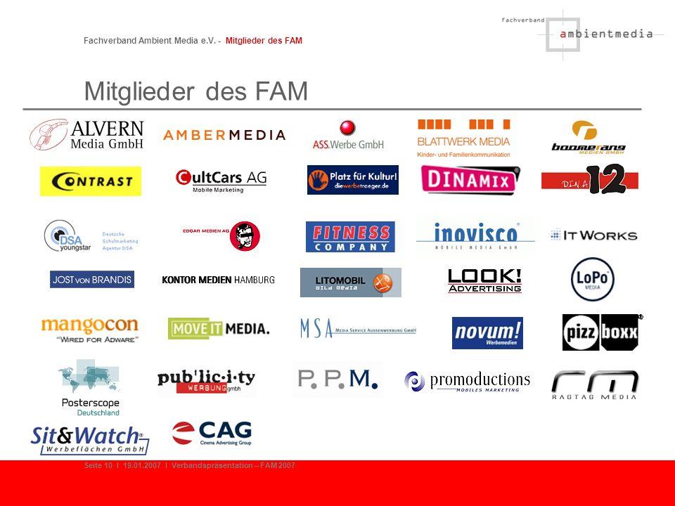 Mitglieder des FAM Fachverband Ambient Media e.V. - Mitglieder des FAM