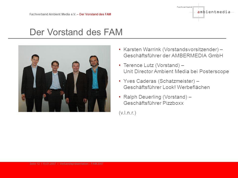 Fachverband Ambient Media e.V. – Der Vorstand des FAM