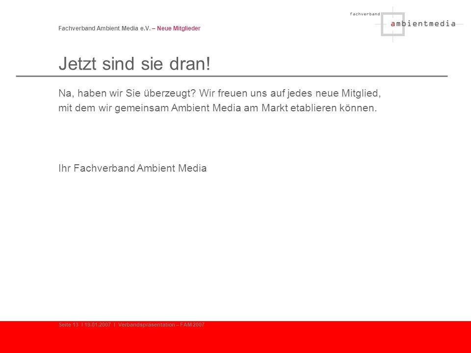 Fachverband Ambient Media e.V. – Neue Mitglieder