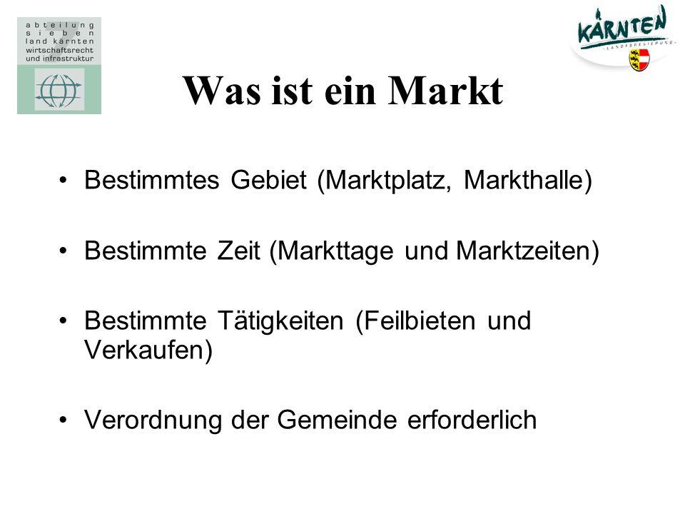 Was ist ein Markt Bestimmtes Gebiet (Marktplatz, Markthalle)