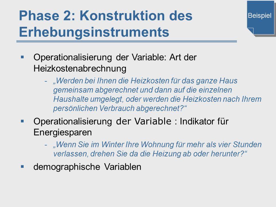 Phase 2: Konstruktion des Erhebungsinstruments