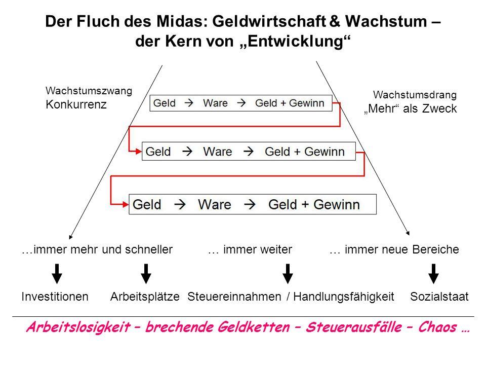 """Der Fluch des Midas: Geldwirtschaft & Wachstum – der Kern von """"Entwicklung"""