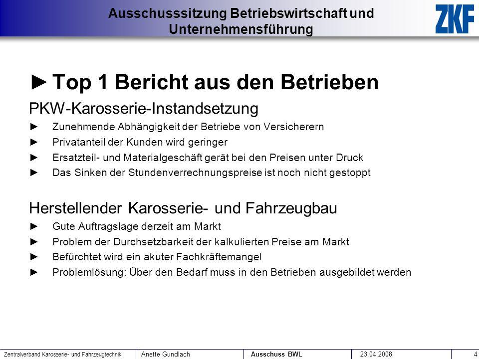 Top 1 Bericht aus den Betrieben