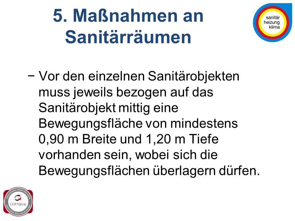5. Maßnahmen an Sanitärräumen