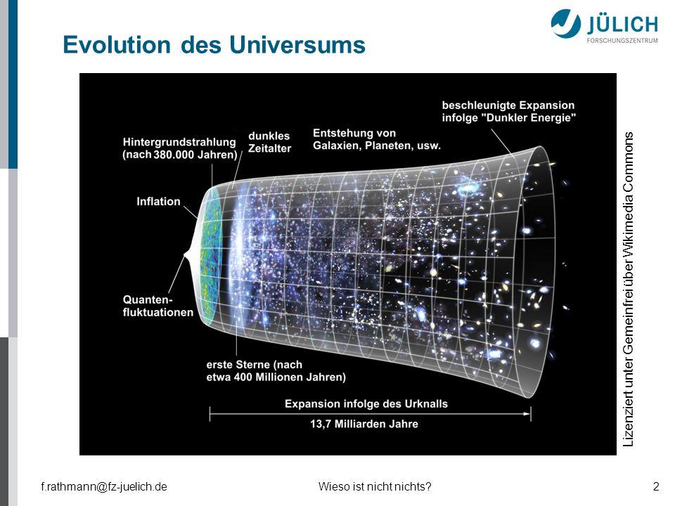 Evolution des Universums