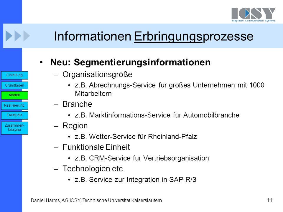 Informationen Erbringungsprozesse