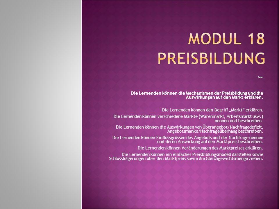 Modul 18 Preisbildung Ziele Ppt Video Online Herunterladen