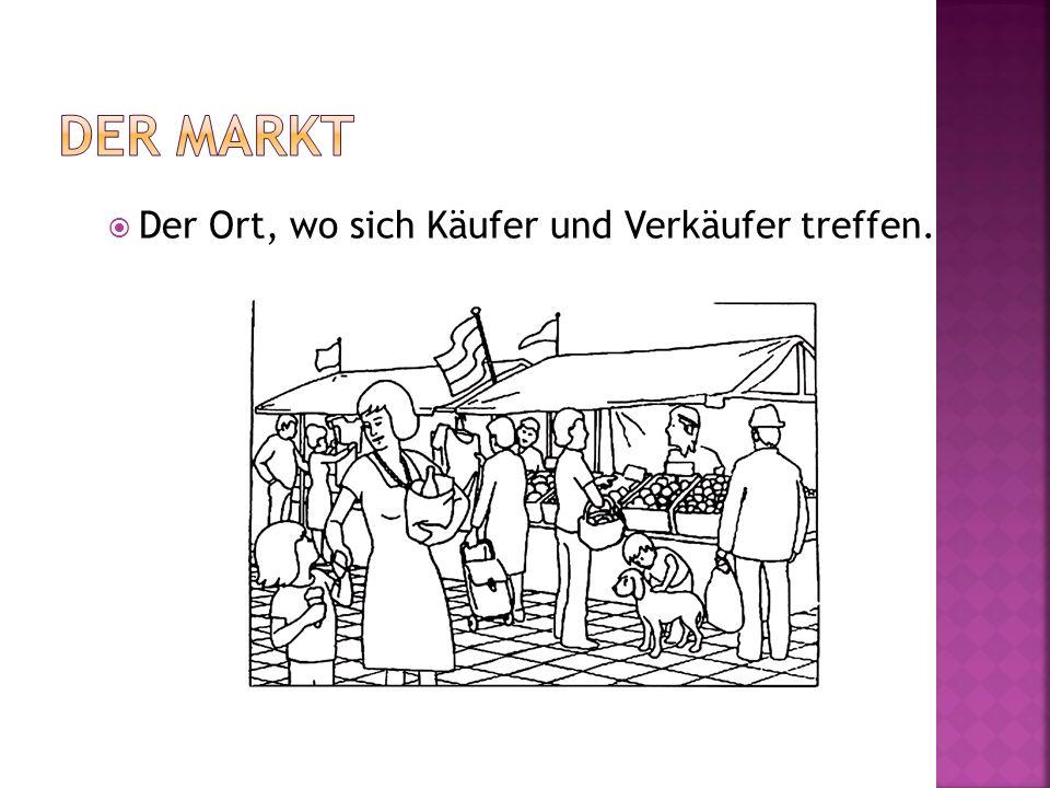 Der Markt Der Ort, wo sich Käufer und Verkäufer treffen.