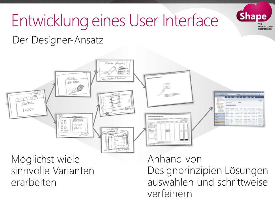 Entwicklung eines User Interface