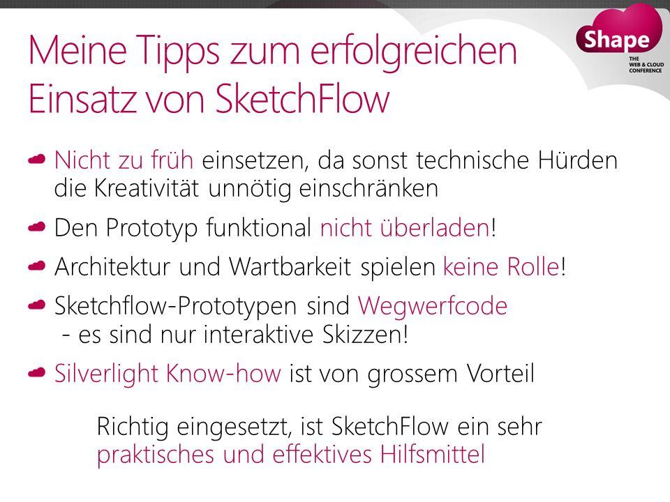 Meine Tipps zum erfolgreichen Einsatz von SketchFlow