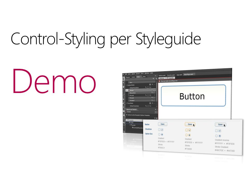 Control-Styling per Styleguide